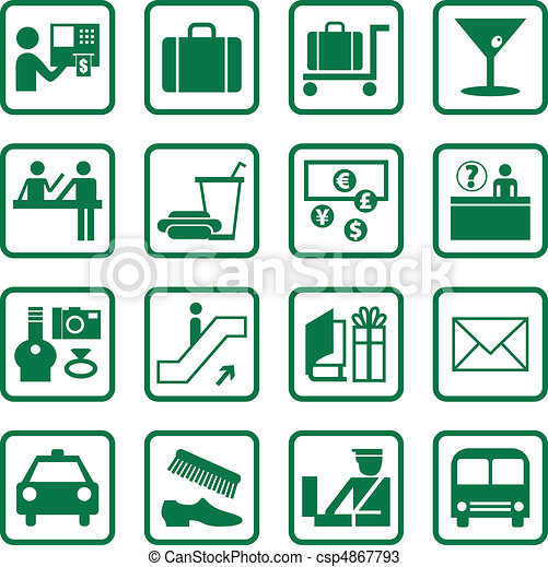 Airport and Travel Icons - csp4867793