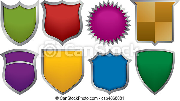 Eight badges for logos - csp4868081