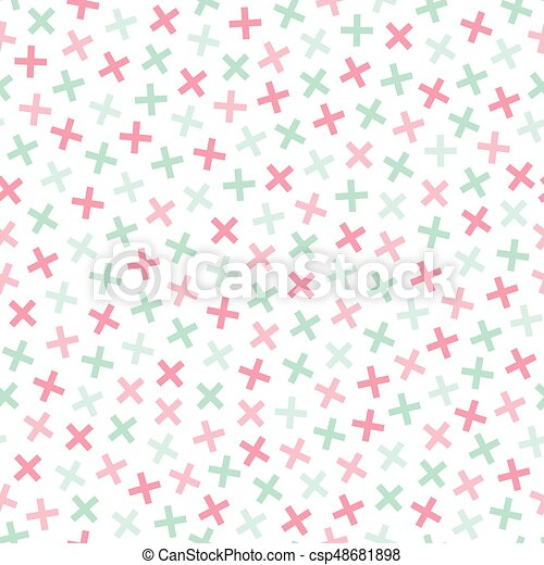 Colorful seamless memphis pattern in soft colors. - csp48681898
