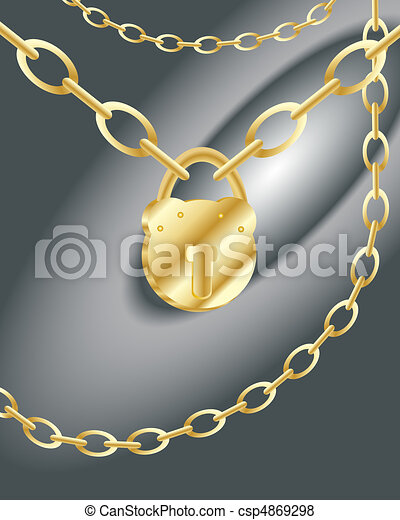 padlock and chain - csp4869298