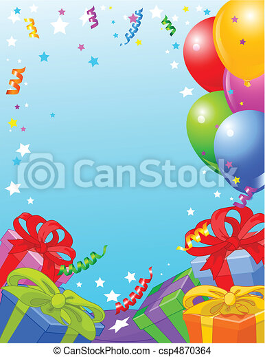 Birthday party card - csp4870364