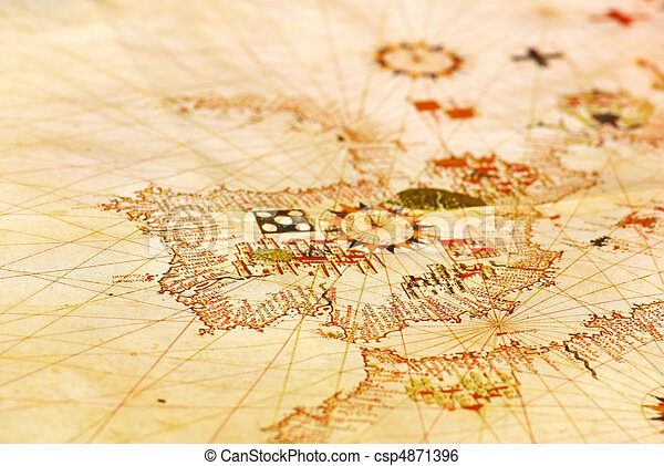 Portuguese old map. - csp4871396
