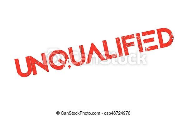 Unqualified rubber stamp - csp48724976