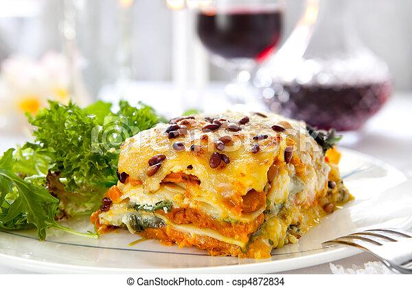 Vegetarian Lasagne - csp4872834