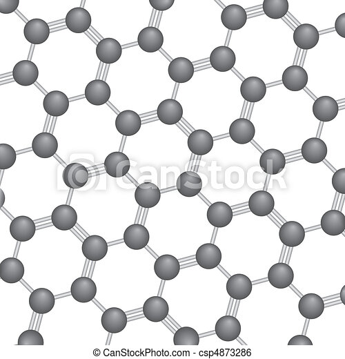 Carbon Molecule Background - csp4873286