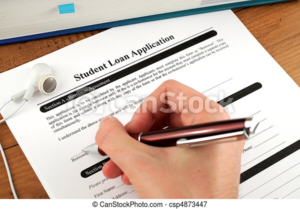 Student Loan Application Signing - csp4873447