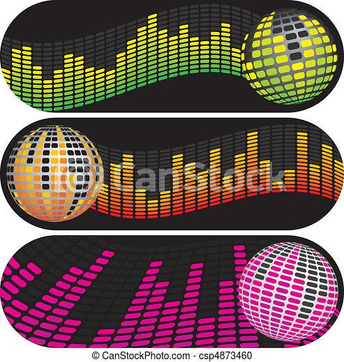 Three Disco Music Banners - csp4873460