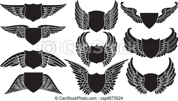 Shields with Wings - csp4873524