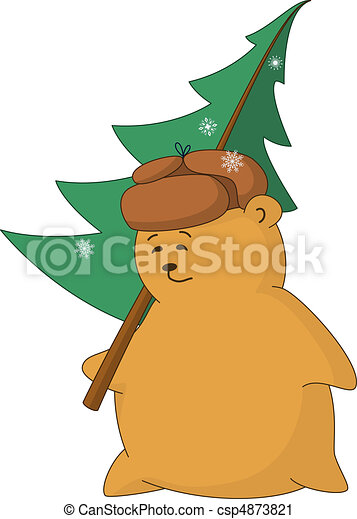 The passer-by with a fur-tree - csp4873821