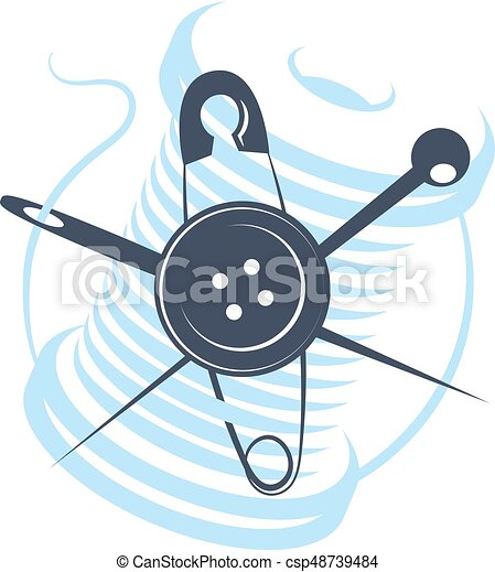 Needle and thread vector - csp48739484