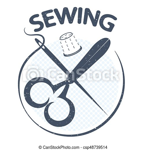 Sewing silhouette vector - csp48739514