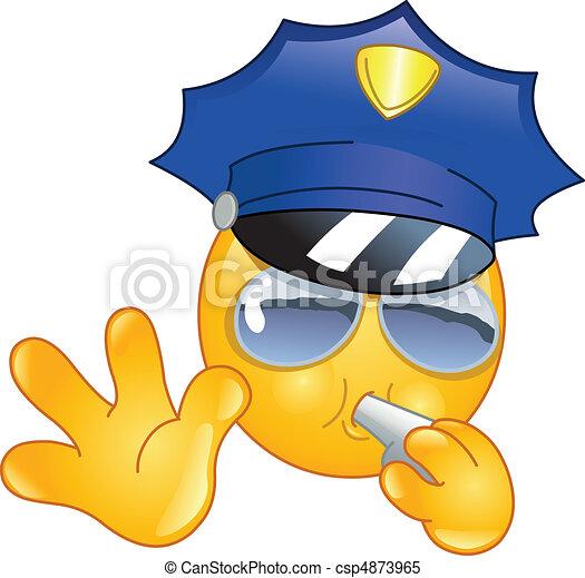 Policeman emoticon - csp4873965