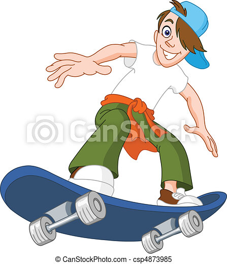Skateboard boy - csp4873985