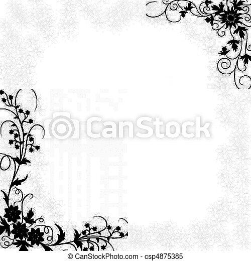 A floral border - csp4875385