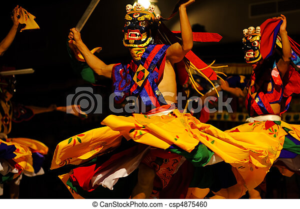 Lama Dance - The Kingdom of Bhutan - csp4875460