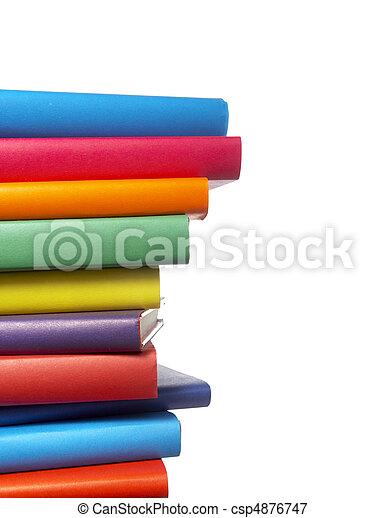 LIVROS, Educação, Pilha, coloridos - csp4876747