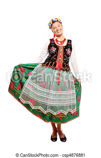 Traditional Polish outfit - csp4876881
