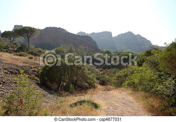 Roquebrune from path - csp4877031