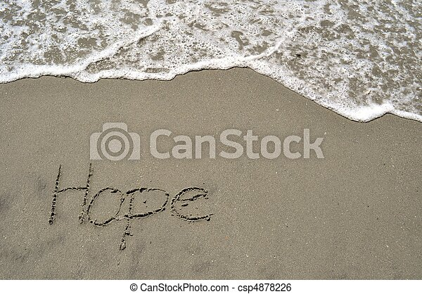 Hope in the sand - csp4878226