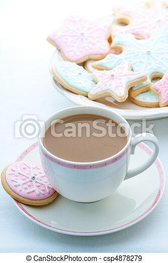 Snowflake cookies - csp4878279