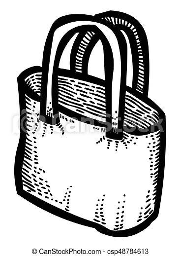 Cartoon image of Shopping bag - csp48784613