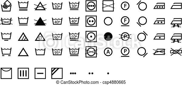 International Laundry Symbols - csp4880665