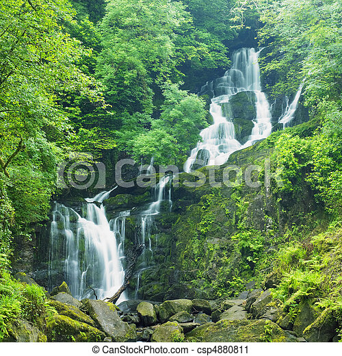 Torc Waterfall, Killarney National Park, County Kerry, Ireland - csp4880811