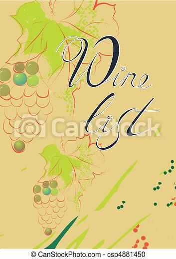 Wine list  - csp4881450