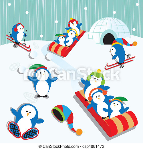 Penguin Fun - csp4881472