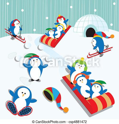 Penguin Fun - csp4881472