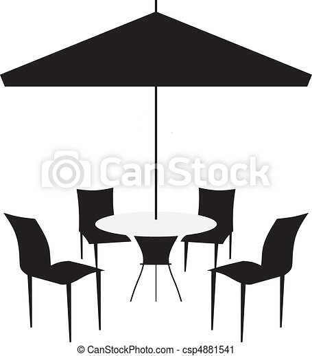 Patio chairs and canopy - csp4881541