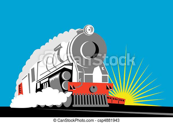steam train front view  - csp4881943