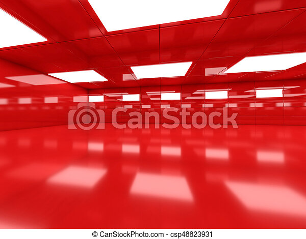 Abstract modern architecture background, empty open space interi - csp48823931