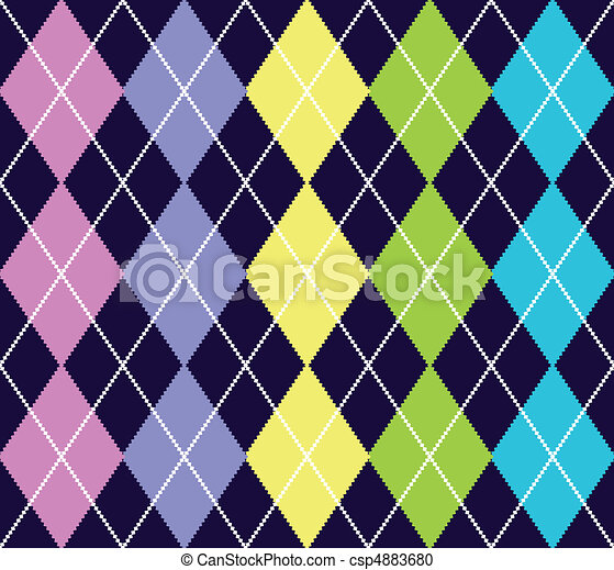 Vector argyle seamless pattern - csp4883680
