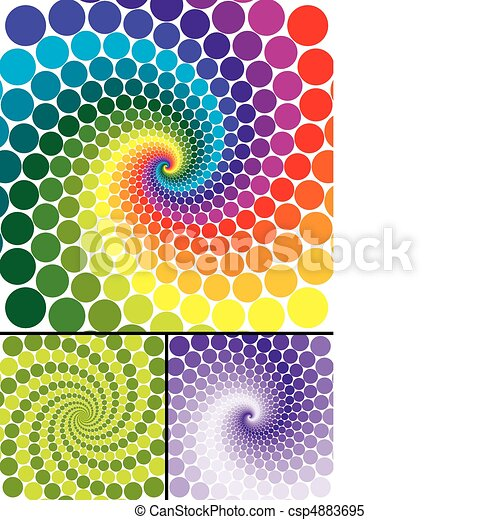 Rainbow swirl with color variations - csp4883695