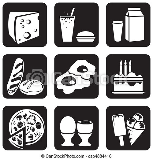 icons food (part 3) - csp4884416
