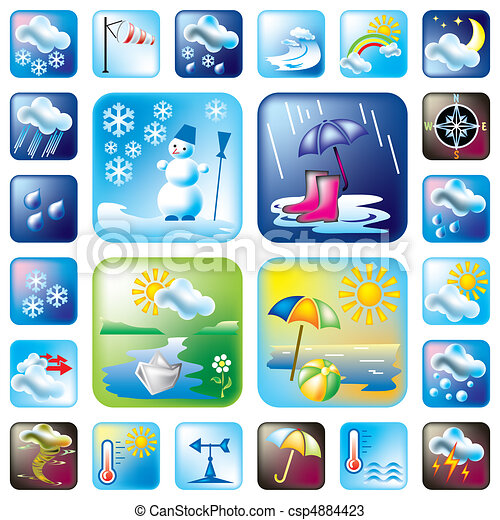 ickons  weather - csp4884423