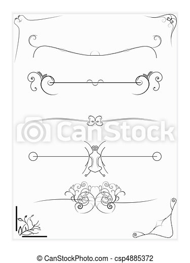 Abstract Vector Design Elements , Borders , Frames - csp4885372