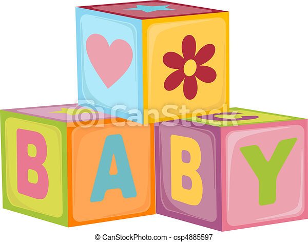 Baby's letter cubes - csp4885597