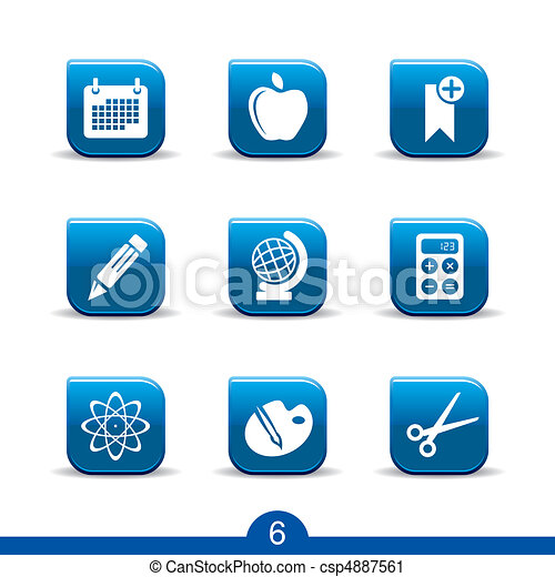 education icons no.6..smooth series - csp4887561