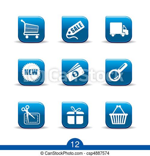 shopping icons no.12..smooth series - csp4887574