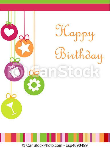 happy birthday - csp4890499