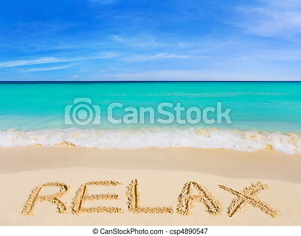 Word Relax on beach - csp4890547