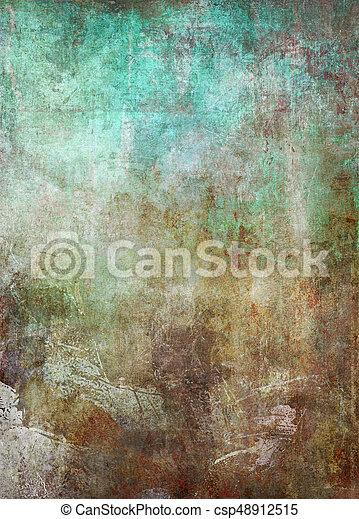 old patina metal grunge background - csp48912515