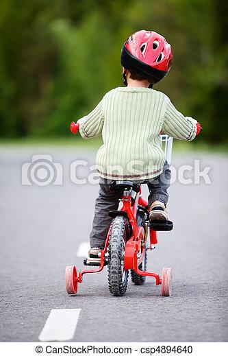 Safe Bicycling - csp4894640