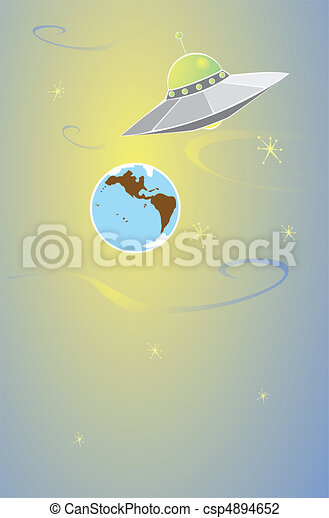 Alien and Earth - csp4894652