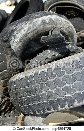 vehicle tyres recycle ecological factory waste environment industry - csp4894728