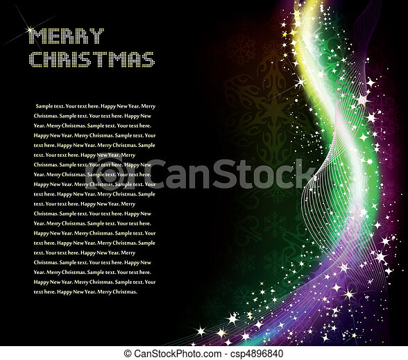 Christmas abstract shine background. Vector - csp4896840