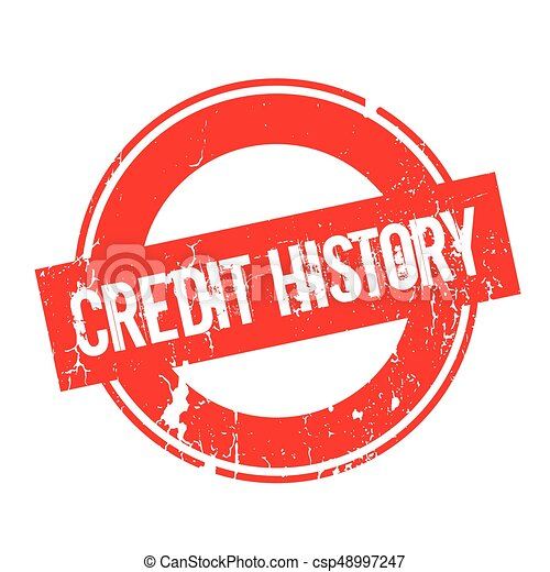Credit History rubber stamp - csp48997247