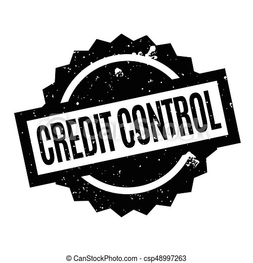Credit Control rubber stamp - csp48997263